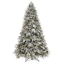 25% off Home Accents Holiday 7.5 ft. Pre-Lit LED Flocked Mixed Pine Artificial Christmas Tree w/ 500 Warm White Lights