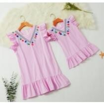 27% off Fringed Striped Matching Dresses
