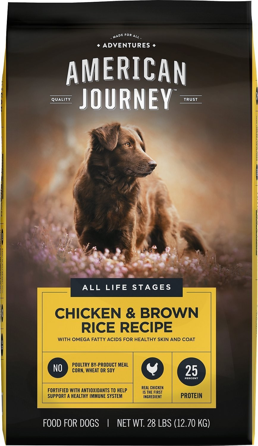 28 lbs (x2) American Journey Dog Food + 1 lb. Free treats w/ 50% off first bag $34