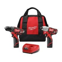 "28% off Milwaukee Lithium-Ion 3/8"" Drill Driver & Impact Driver Combo Kit + Free Shipping"