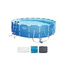 "$280 off Bestway Steel Pro 18' x 48"" Frame Swimming Pool Set w/ Filter Pump & Ladder"