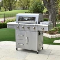 29% off 3 Embers 4-Burner Gas Grill w/ Radiant Embers Cooking System
