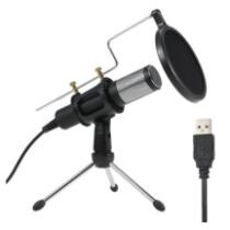 29% off Professional Condenser Microphone USB Home Studio Podcast Vocal Recording Microphones + Free Shipping