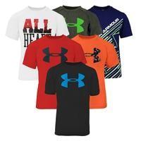 3-Pack Under Armour Boys Short Sleeve T-Shirt