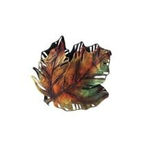 """30% off 6"""" Autumn Colored Maple Leaf Metal Thanksgiving Votive Candle Holder"""