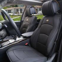 $30 off Deluxe Leatherette Seat Covers Front Bucket Pair for Auto in Black + Free Shipping