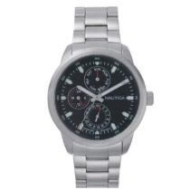 32% off Nautica Men's Forbell 44mm Multi Function Silver Tone Bracelet Watch + Free Shipping