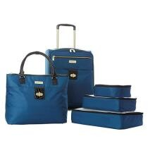 32% off Samantha Brown 5-Piece Luggage Set w/ Spinner, Tote & Packing Cubes