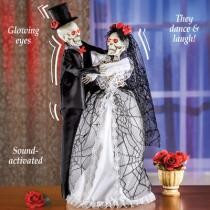33% off Animated Halloween Bride & Groom Skeletons