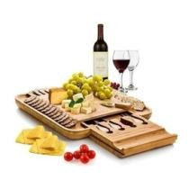 33% off Bambusi MAT-CB2 Bamboo Cheese Board w/ Cutlery Set