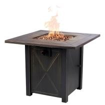 34% off Faux Wood Tabletop 30 Inch Fire Table