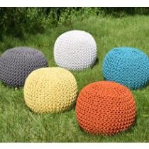 $36 Handmade Gumdrop Knitted Pouf (12 Colors) + Free Shipping