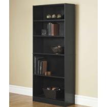 """$39 Orion 72"""" 5-Shelf Wide Bookcase"""
