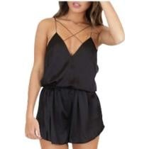 40% off Iyasson Petite Trim Detail V-neck Beach Romper
