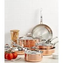 40% off Lagostina Martellata Tri-ply Copper 10 Pc. Cookware Set