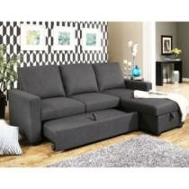 41% off Hudson Fabric Reversible Storage Sectional w/ Pullout Bed