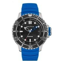 41% off Nautica Men's NMX Dive Style 50mm w/ Date Blue Silicone Strap Watch + Free Shipping