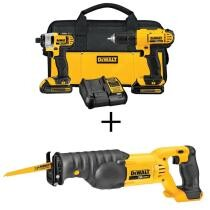 44% off DeWalt 20-Volt MAX Lithium-Ion Cordless Drill & Driver Combo Kit