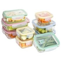 46% off 18 Pc. BPA Free Glass Food Containers w/ Locking Lids