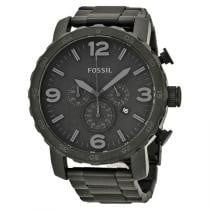 46% off Fossil Men's Nate Chronograph Black Ion-plated Stainless Steel Black Dial
