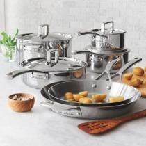 46% off Tri-Ply Stainless Steel 10-Piece Set