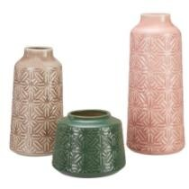 47% off Better Homes & Gardens 3-Piece Starburst Geometric Vase Set
