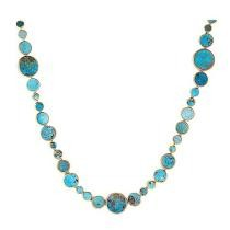 47% off Dallas Prince Sterling Silver 24 Inch or 36 Inch Coin Shaped Gemstone Necklace