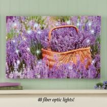 47% off Lavender Flower Field Lighted Wall Canvas