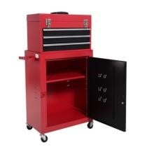 48% off 2pc Mini Tool Chest & Cabinet Storage Box Rolling Garage Toolbox