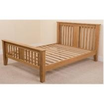 49% off Boston 5-Ft. King Size Solid Oak Bed