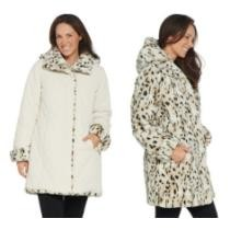 49% off Dennis Basso Reversible Diamond Quilted & Faux Fur Coat