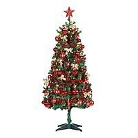 5 Ft. Holiday Time Pre-Lit Christmas Tree plus Decorations (Red, Multi or Gold) $49.00 - Walmart - FS