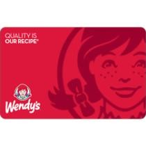 $5 off $55 Wendy's Gift Card + Free Shipping