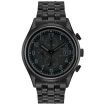 50% off Citizen Men's Chronograph Quartz Black Stainless Steel Bracelet Watch
