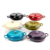 """50% off Healthy Living Large 12"""" Enamel Cast Iron Everyday Pan"""