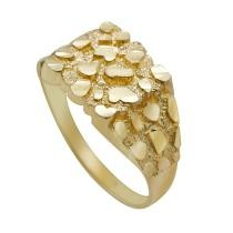 50% off Real Solid 10K Yellow Gold Men's Nugget Ring