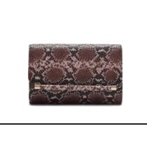 50% off Snakeskin Print Fold-over Clutch Bag
