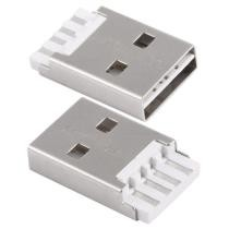 50 Pieces USB 2.0 AM Short Body Plastic Core White Shell Iron Welding Line Socket Connector, H Type	Now $2