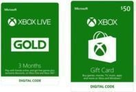 $50 Xbox Gift Card + 3-Months of Xbox Live Gold Membership