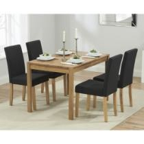51% off Oxford Solid Oak Dining Table w/ Fabric Chairs