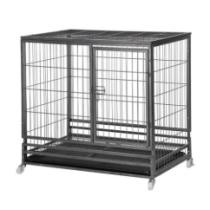 "51% off Topeakmart 37"" Heavy Duty Dog Crate Metal Wire Pet Cage Kennel Tray"