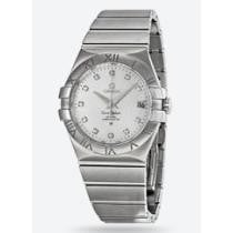 52% off Omega Constellation Silver Diamond Dial Stainless Steel Men's Watch