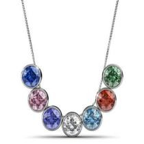 53% off 7-Pc. Swarovski Crystal Round Colored Necklace