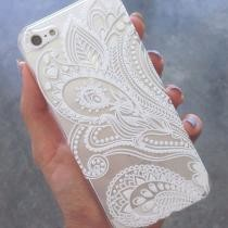 55% off Henna White Floral Flower Plastic Case Cover Skin for iPhone 6s