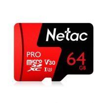 55% off Netac 64GB Pro Micro SDXC TF Memory Card V30UHS-I U3 High Speed Up to 98MBs