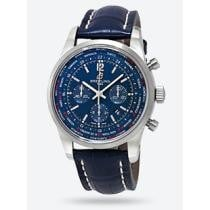 56% off Breitling Transocean Unitime Pilot Automatic Blue Dial Men's Watch