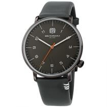 57% off Bruno Magli Men's Roma Moderna Leather Grey Dial Watch