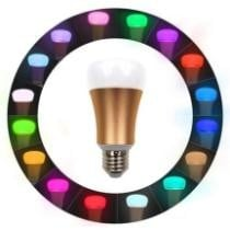 57% off Weanas WiFi Smart LED Light Bulb Smartphone Controlled Multicolored Lights + Free Shipping