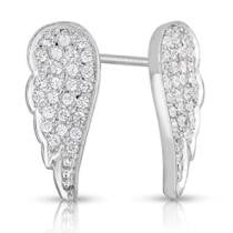58% off 1/4 Carat Diamond Angel Wing Earrings + Free Shipping