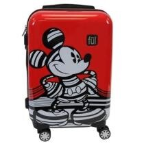 """59% off Striped Mickey 21"""" Hard Side Rolling Luggage - Red + Free Shipping"""